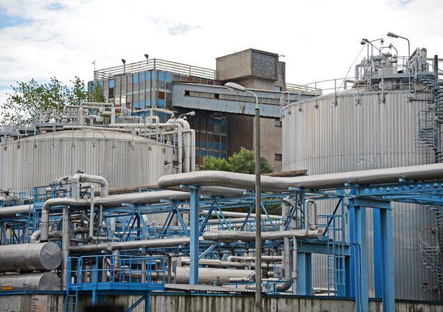 An LNG regasification terminal