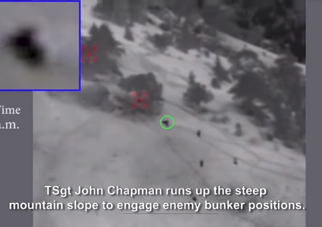 Newly issued surveillance footage shows the last moments of heroism of Tech Sgt. John Chapman before he was killed by al-Qaeda fighters in Afghanistan in March 2002.