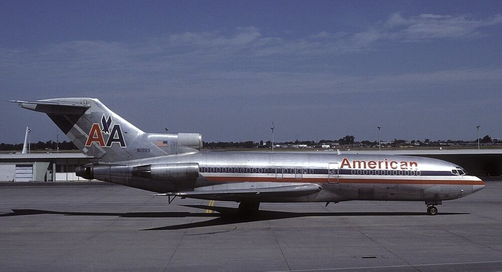 An American Airlines Boeing 727, file photo.
