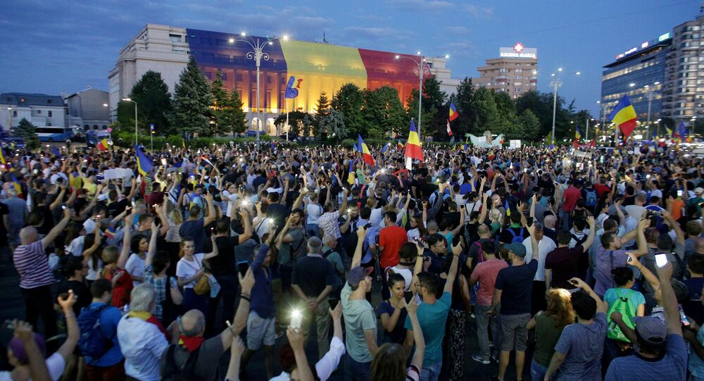 Thousands of Romanians joined an anti-government rally in the capital Bucharest, Romania August 11, 2018.