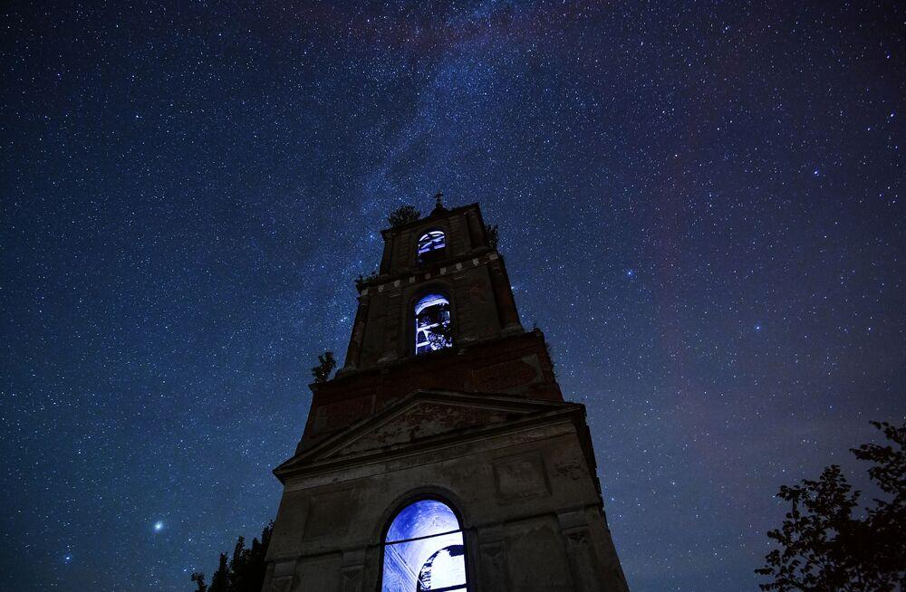 Night Sky Lit by Stunning Perseid Meteor Shower