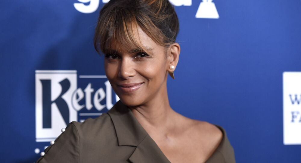 Halle Berry arrives at the 29th annual GLAAD Media Awards at the Beverly Hilton Hotel on Thursday, April 12, 2018, in Beverly Hills, Calif
