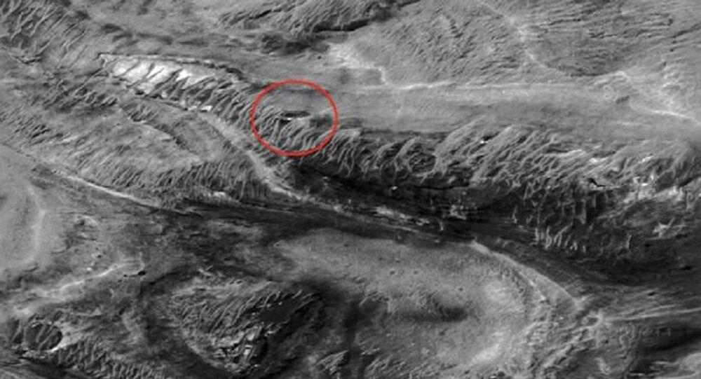An alleged alien base on Mars