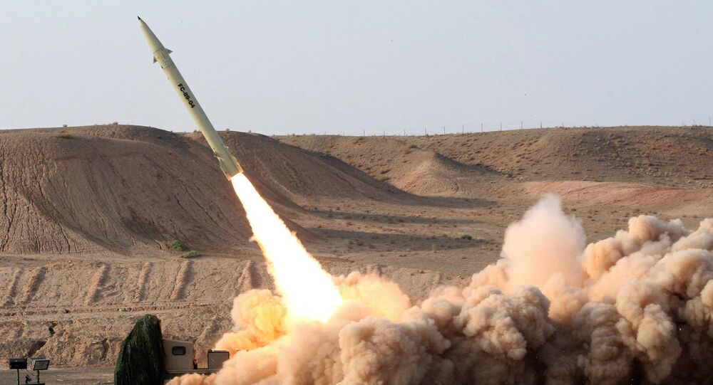 Test firing of Iran's domestically-built surface-to-surface Fateh 110 missile (File)