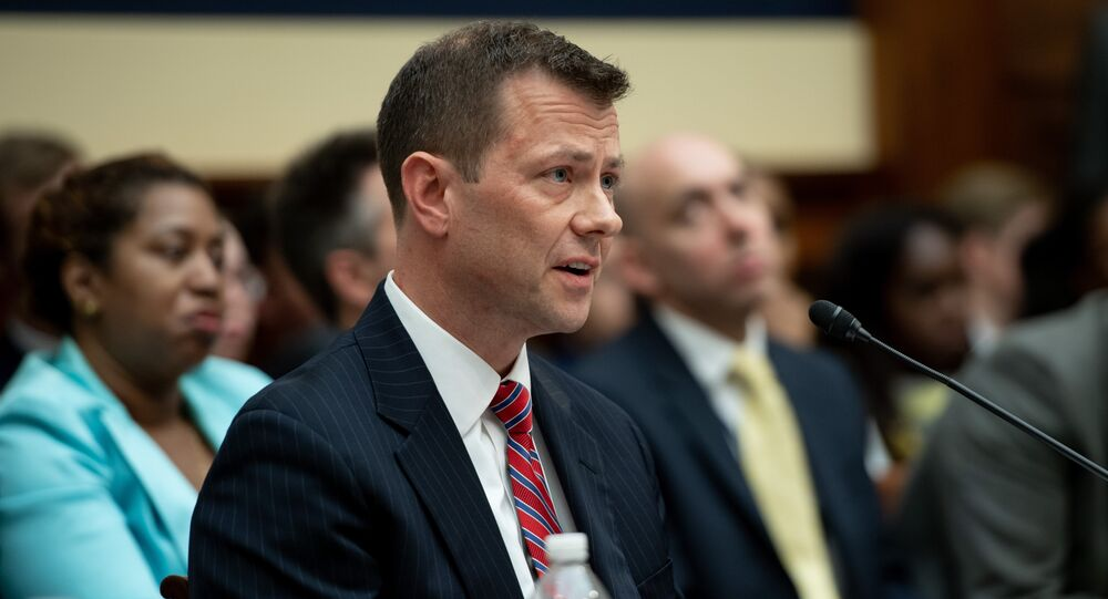 Deputy Assistant FBI Director Peter Strzok testifies on FBI and Department of Justice actions during the 2016 Presidential election during a House Joint committee hearing on Capitol Hill in Washington, DC, July 12, 2018.