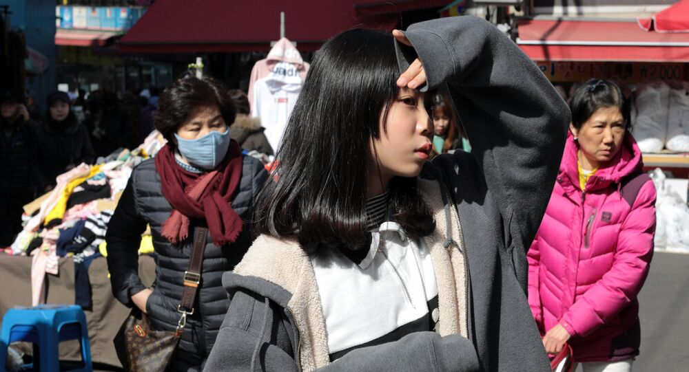 People in the Namdaemun trade district in Seoul.