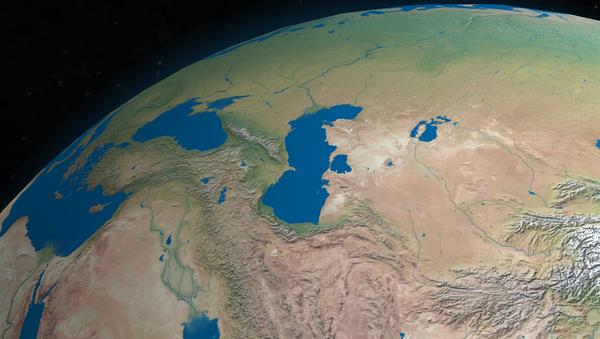 Los mares Negro (izqd.) y Caspio (dcha.) - Sputnik International