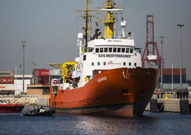 Aquarius migrant rescue vessel with reportedly 141 people on board