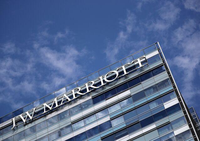 A JW Marriott hotel is seen in Los Angeles, California U.S. November 7, 2017