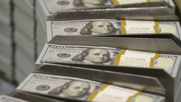 Stacks of $100 bills at the Bureau of Engraving and Printing Western Currency Facility in Fort Worth, Texas - Sputnik International