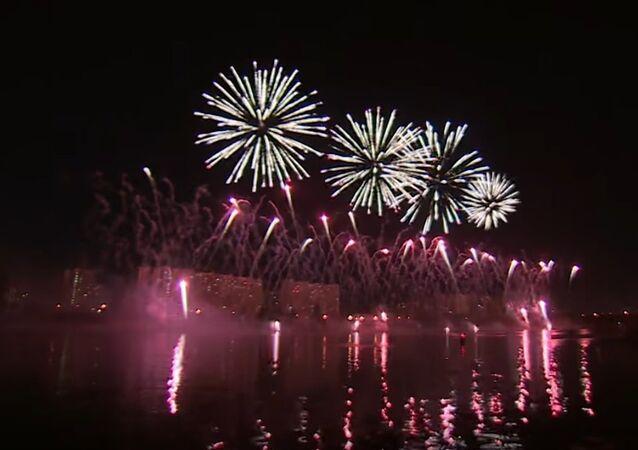 Russia: Spectacular firework festival illuminates Moscow sky