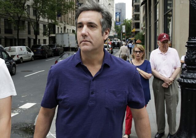 Michael Cohen, formerly a lawyer for President Trump, leaves his hotel Monday, July 30, 2018, in New York.