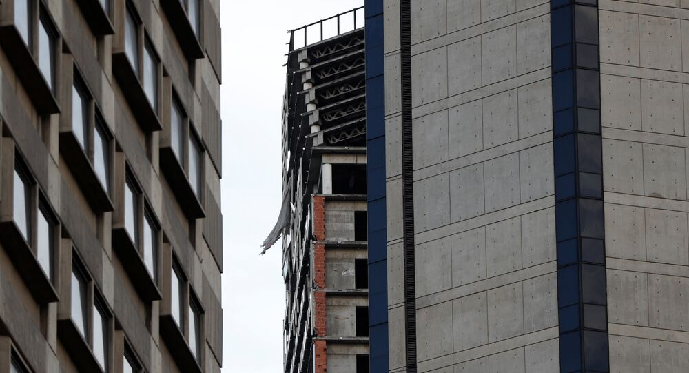 Structural damage is seen on the top five floors of an abandoned 45-storey skyscraper known as the Tower of David after an earthquake in Caracas, Venezuela August 21, 2018