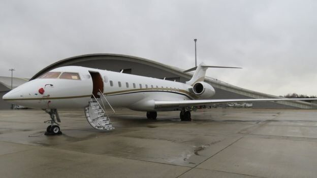 This private jet was hired with cash and flown to Colombia from Luton. It flew back to Farnborough airport, south west of London