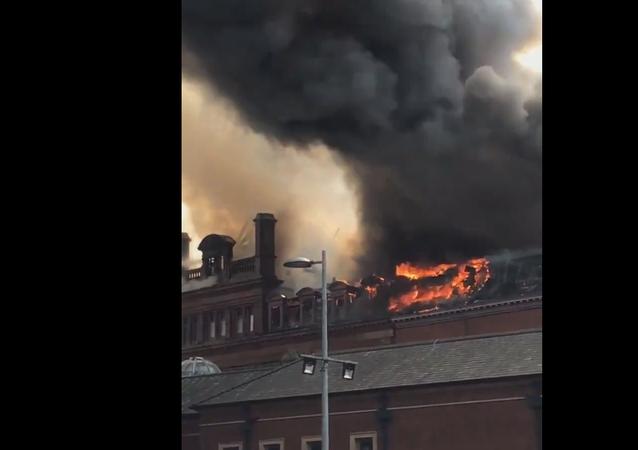 Huge Fire Rages at Primark Belfast Store