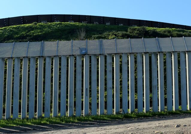 The border wall separating the United States and Mexico is pictured in San Ysidro, California.