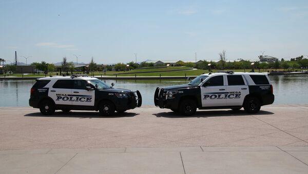 Squad cars of the Mesa Police Department in Arizona. - Sputnik International