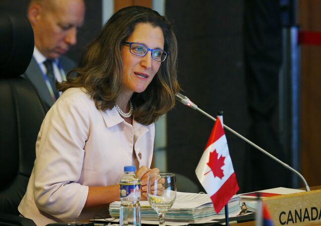 Canadian Foreign Minister Chrystia Freeland