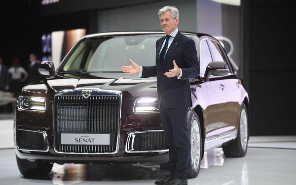 Aurus CEO Hilgert Franz Gerhard at the 2018 Moscow International Automobile Salon. - Sputnik International