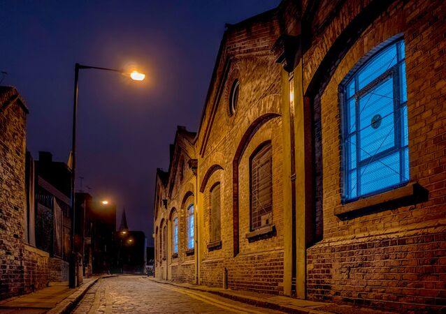 The streets of Whitechapel in east London (pictured) have changed a great deal since 1888, largely due to the introduction of electric lighting