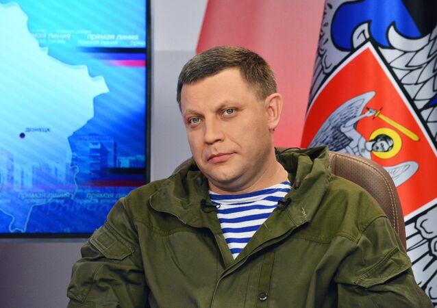 Alexander Zakharchenko, the head the self-proclaimed Donetsk People's Republic (DPR).