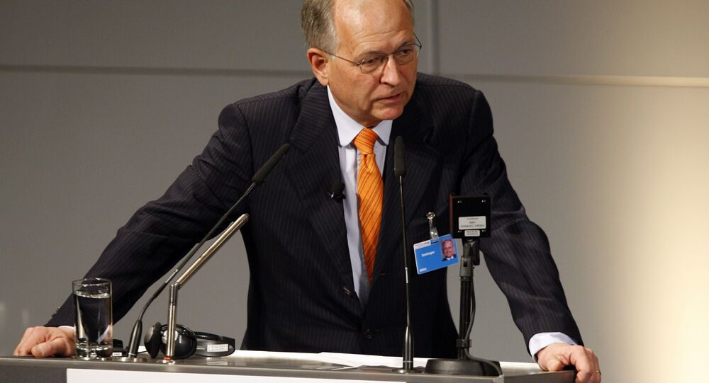 Wolfgang Ischinger, Chairmann of the Munich Security Conference, speaks during the International Conference on Security Policy