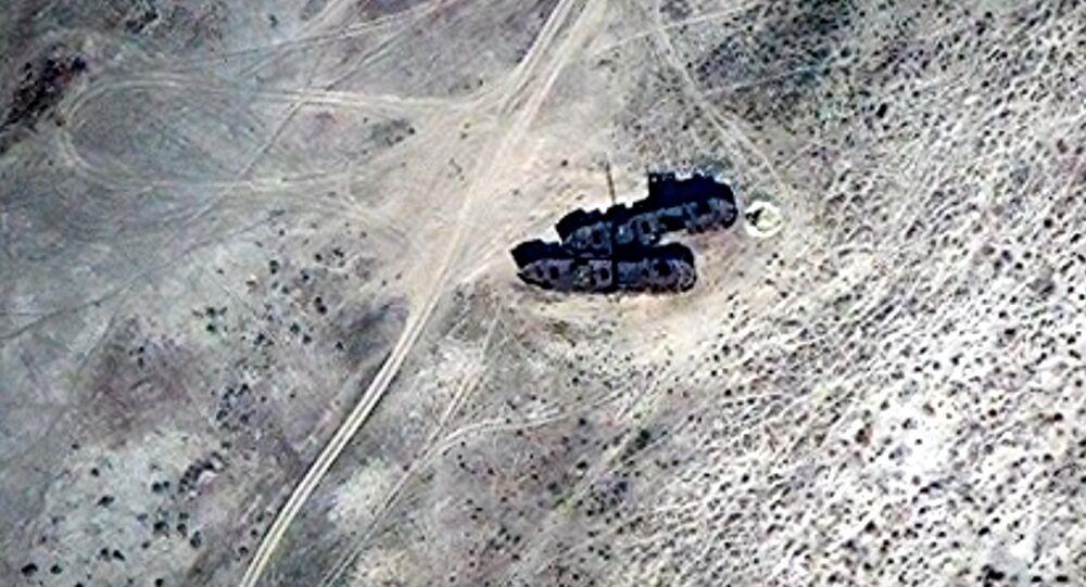 A Fleet of Abandoned Ships in the Desert