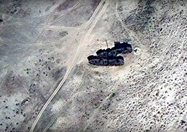 A Fleet of Abandoned Ships in the Desert