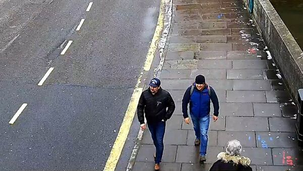 Alexander Petrov and Ruslan Boshirov, who were formally accused of attempting to murder former Russian spy Sergei Skripal and his daughter Yulia in Salisbury, are seen on CCTV on Fisherton Road in Salisbury on March 4, 2018 in an image handed out by the Metropolitan Police in London, Britain September 5, 2018 - Sputnik International