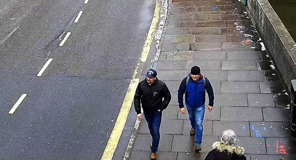 Alexander Petrov and Ruslan Boshirov are seen on CCTV on Fisherton Road in Salisbury on March 4, 2018