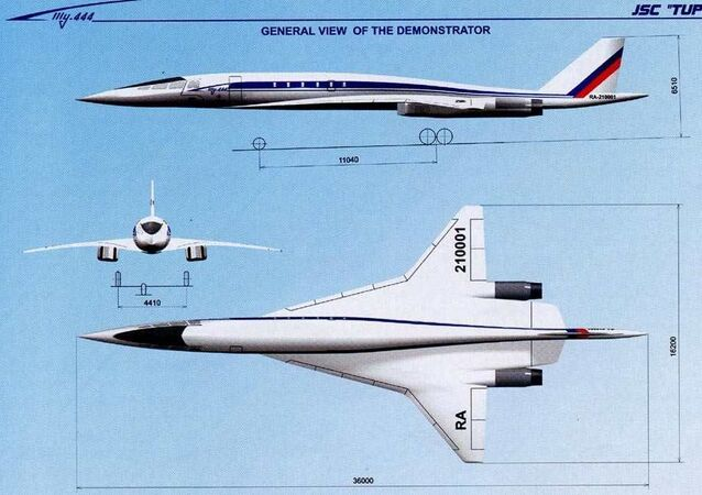 Tu-444, a 2000s supersonic airliner design once thought to have been scrapped by Tupolev.