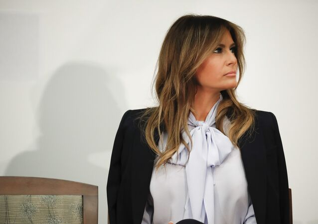 First lady Melania Trump attends the 6th Federal Partners in Bullying Prevention (FPBP) Summit at the Health and Human Services Department in Rockville, Maryland, 20 August 2018.