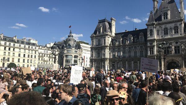 La marche mondiale pour le climat a lieu à Paris - Sputnik International