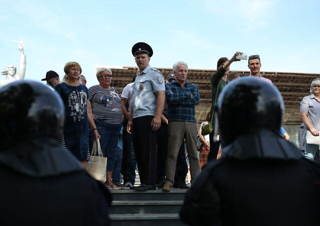 Rallies against pension reform in Russia.