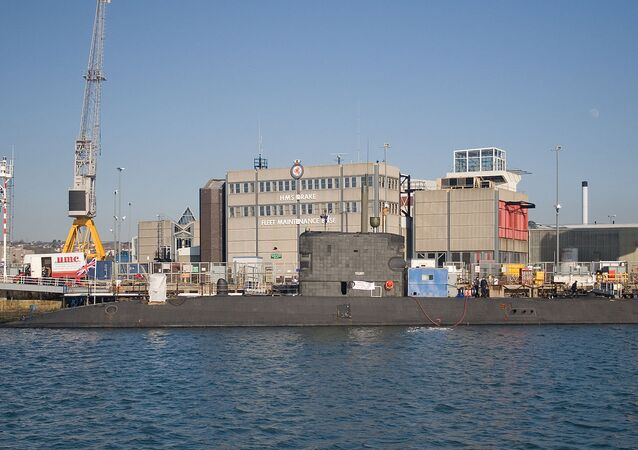 The Royal Navy submarine HMS Talent (S92)