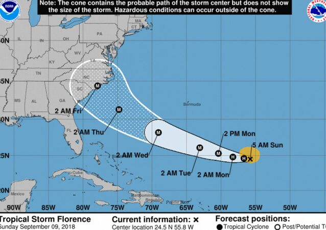 Hurricane Florence tracking toward US East Coast Sept. 9, 2018
