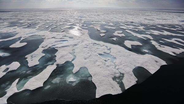 Sea ice melts on the Franklin Strait along the Northwest Passage in the Canadian Arctic Archipelago, Saturday, July 22, 2017. Because of climate change, more sea ice is being lost each summer than is being replenished in winters. Less sea ice coverage also means that less sunlight will be reflected off the surface of the ocean in a process known as the albedo effect. The oceans will absorb more heat, further fueling global warming - Sputnik International