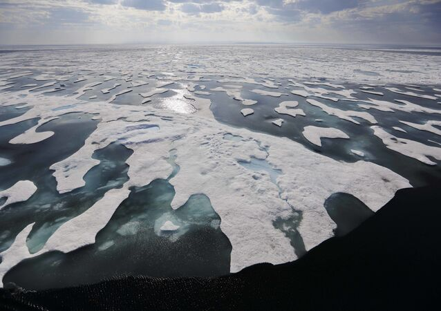 Sea ice melts on the Franklin Strait along the Northwest Passage in the Canadian Arctic Archipelago, Saturday, July 22, 2017. Because of climate change, more sea ice is being lost each summer than is being replenished in winters. Less sea ice coverage also means that less sunlight will be reflected off the surface of the ocean in a process known as the albedo effect. The oceans will absorb more heat, further fueling global warming