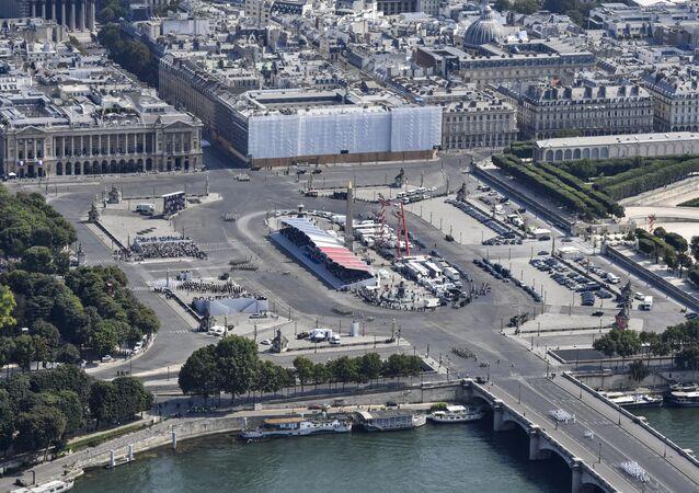 the Champs-Elysees avenue in Paris