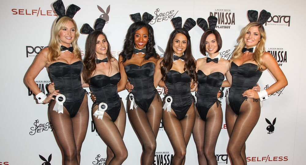 Miss October 2013 Carly Lauren, Miss May 2006 Alison Waite, Miss July 2000 Neferteri Shepherd, 2013 Playmate of the Year Raquel Pomplun, Miss October 2012 Pamela Horton, and Miss February 2007 Michelle McLaughlin attend the Playboy and Gramercy Pictures' Self/less party on day 2 of Comic-Con International on Friday, July 10, 2015, in San Diego.