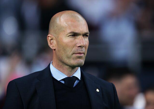 Former Head Coach of FC Real Madrid Zinedine Zidane