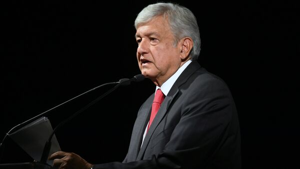 Andres Manuel Lopez Obrador speaks during the official announcement as a candidate for national elections, in Mexico City - Sputnik International