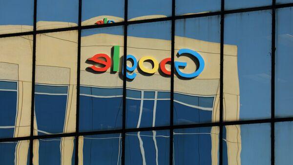 The Google logo is shown reflected on an adjacent office building in Irvine, California, U.S. August 7, 2017 - Sputnik International