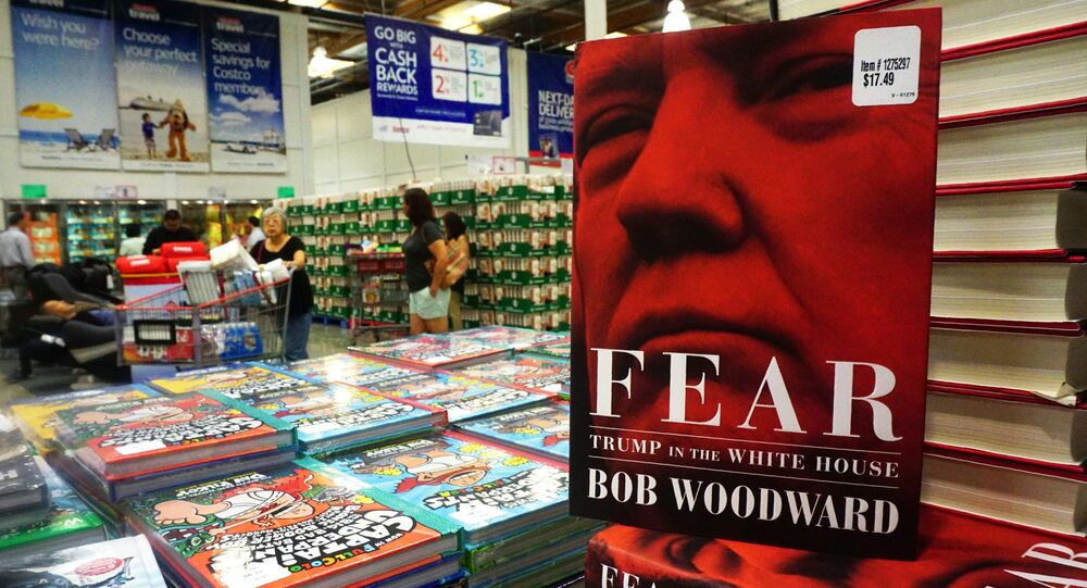 Veteran journalist Bob Woodward's latest book Fear: Trump in the White House is displayed for sale upon releaase at a Costco store in Alhambra, California on September 11, 2018