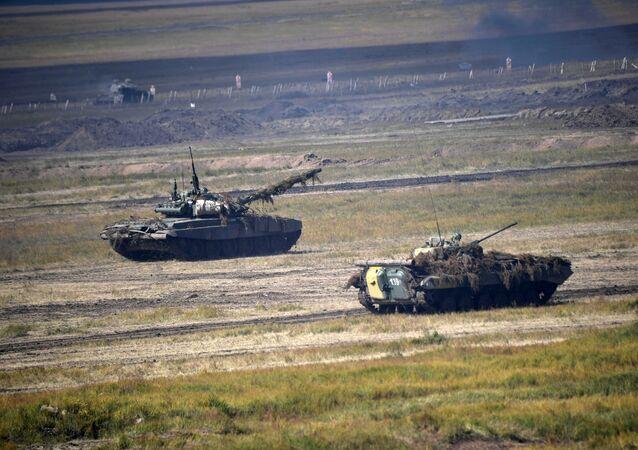 Main Stage of Vostok-2018 military drills