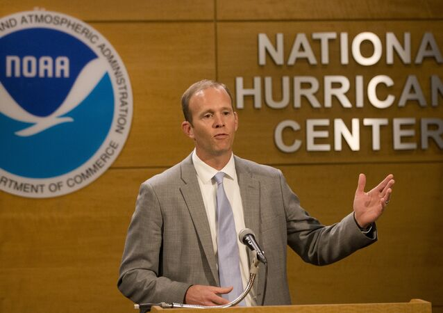 FEMA Administrator Brock Long speaks during a news conference at the National Hurricane Center, Wednesday, May 30, 2018, in Miami