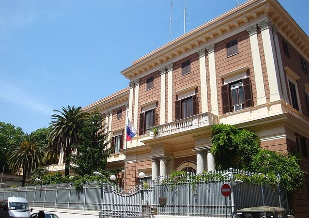 The building of Embassy of the Russian Federation in Italy