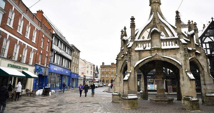 People walk through the centre of Salisbury
