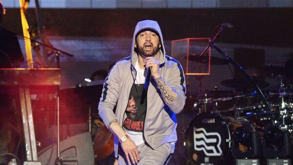 Eminem performs at the Bonnaroo Music and Arts Festival on Saturday, June 9, 2018, in Manchester, Tenn. - Sputnik International