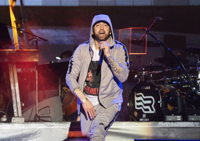 Eminem performs at the Bonnaroo Music and Arts Festival on Saturday, June 9, 2018, in Manchester, Tenn.